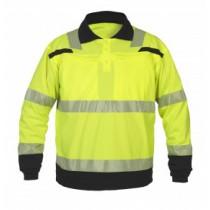 040460 Hydrowear Poloshirt Long Sleevel Hi-Vis Line Tanna